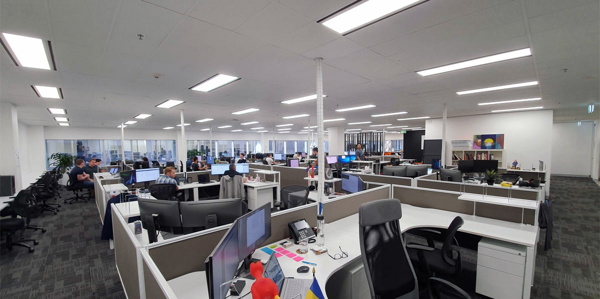 Internal view of our new Hunter St office