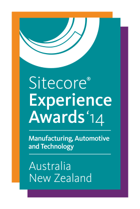Sitecore Experience Award 2014 - Manufacturing, Automotive and Technology