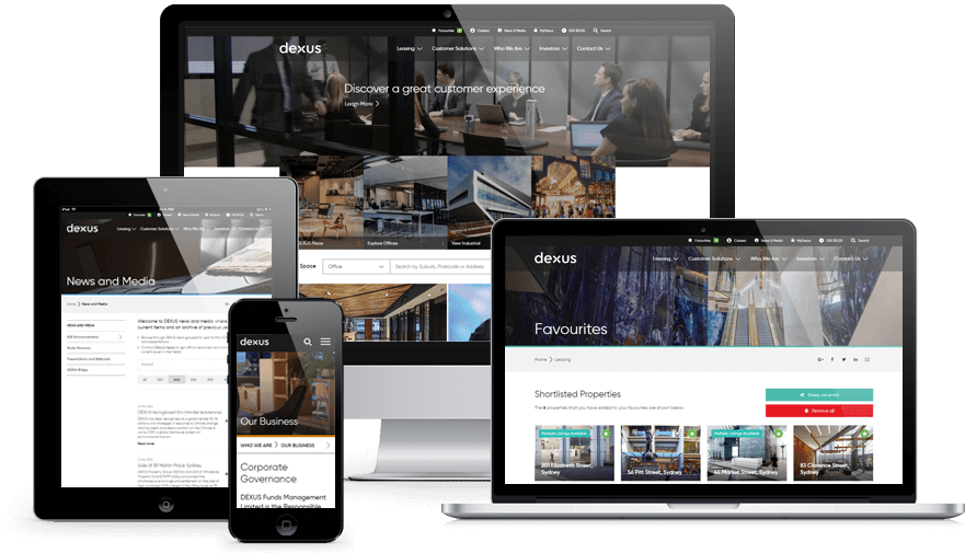 Dexus Website Responsive Showcase