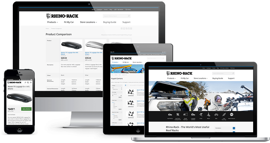 Rhino-Rack Website Responsive Showcase