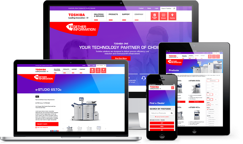 Toshiba Website Responsive Showcase