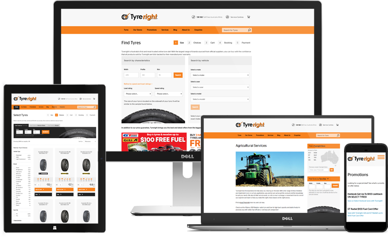 Tyreright Website Responsive Showcase