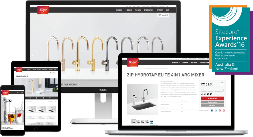 Zip Water - Sitecore Experience Award Winner - Best eCommerce Experience